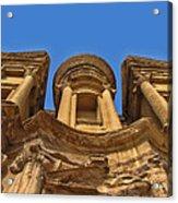 The Monastery In Petra Acrylic Print