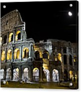 The Moon Above The Colosseum No1 Acrylic Print