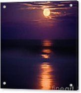 The Moon Is Just The Sun At Night Acrylic Print by Mark Miller