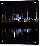 The Moonlit Mosque Acrylic Print by Farah Faizal