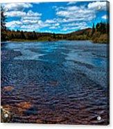 The Moose River At The Green Bridge Acrylic Print