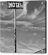 The Motel Bw Palm Springs Acrylic Print