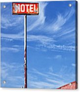 The Motel Palm Springs Desert Hot Springs Acrylic Print