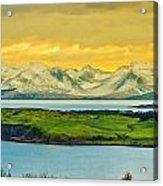 The Mountains Of Arran From Douglas Park Largs Acrylic Print