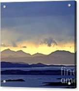 The Mountains Of Mull Seen Over The Sound Of Jura Inner Hebrides Scotland From Above Crinan Acrylic Print