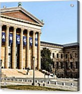 The Museum Of Art In Philadelphia Acrylic Print