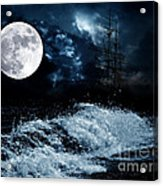 The Mysterious Moon Acrylic Print by Boon Mee