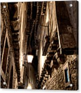 Narrow Street In Albarracin Acrylic Print