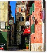 The Narrow Streets Of Rovinj Croatia Acrylic Print