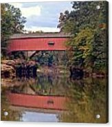 The Narrows Covered Bridge 4 Acrylic Print