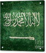The National Flag Of  Kingdom Of Saudi Arabia  Vintage Version Acrylic Print