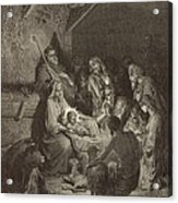 The Nativity Acrylic Print by Antique Engravings