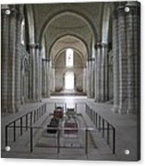 The Nave With Tombs Fontevraud Abbey Acrylic Print