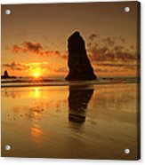 The Needles At Haystack - Cannon Beach Sunset  Acrylic Print