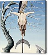 The Neolithic Totem Oil On Canvas Acrylic Print
