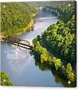 The New River From Hawks Nest Acrylic Print