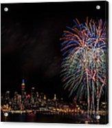 The New York City Skyline Sparkles Acrylic Print by Susan Candelario