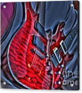 The Next Red Thing Digital Guitar Art By Steven Langston Acrylic Print