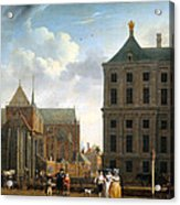 The Nieuwe Kerk And The Rear Of The Town Hall In Amsterdam  Acrylic Print by Isaak Ouwater