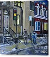 The Night Shift Waiting For The Bus Acrylic Print