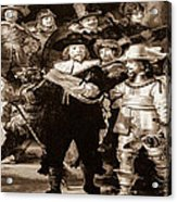 The Night Watch By Rembrandt Acrylic Print