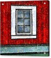 The Night Window Acrylic Print