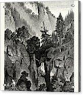 The Nunnery Of Ottilienberg, Alsace. Mont Sainte-odil Acrylic Print