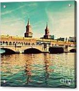 The Oberbaum Bridge In Berlin Germany Acrylic Print