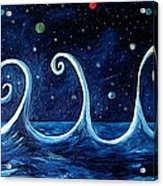 The Ocean, The Moon And The Stars Acrylic Print