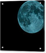 The Official Blue Moon Of 2013-august 20-21 Acrylic Print