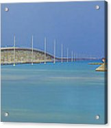 The Old- And New 7 Mile Bridge Acrylic Print