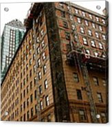 The Old And The New Building Acrylic Print by Jocelyne Choquette