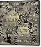 The Old Ballgame Acrylic Print