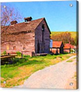 The Old Barn 5d22271 Acrylic Print by Wingsdomain Art and Photography