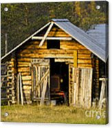 The Old Barn Acrylic Print by Heiko Koehrer-Wagner