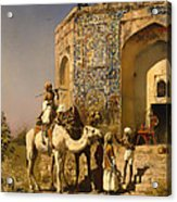 The Old Blue Tiled Mosque - India Acrylic Print