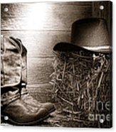 The Old Boots Acrylic Print by Olivier Le Queinec
