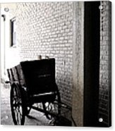 The Old Cart From The Series View Of An Old Railroad Acrylic Print