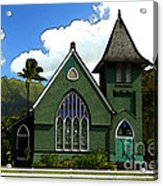 The Old Church In Hanalei Acrylic Print