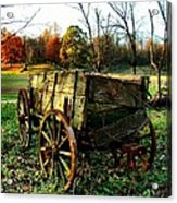 The Old Conestoga Acrylic Print by Julie Dant