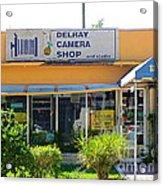 The Old Delray Camera Shop And Studio. Florida. Acrylic Print