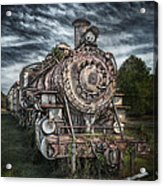 The Old Depot Train Acrylic Print by Brenda Bryant