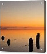 The Old Dock At Sunset Acrylic Print