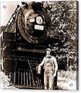 The Old Engineer Acrylic Print