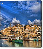 the old Jaffa port Acrylic Print by Ron Shoshani