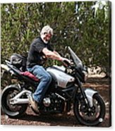 The Old Man On The Motorcycle Acrylic Print
