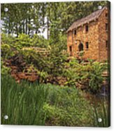 The Old Mill And Pond Acrylic Print