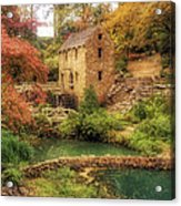 The Old Mill In Autumn - Arkansas - North Little Rock Acrylic Print