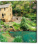 The Old Mill - North Little Rock - Pugh's Mill 1832 Acrylic Print by Gregory Ballos