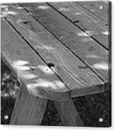 The Old Picnic Table Acrylic Print